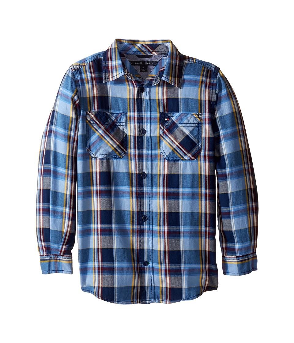Tommy Hilfiger Kids - Kingsley Long Sleeve Shirt (Toddler/Little Kids) (Flag Blue) Boy's Clothing