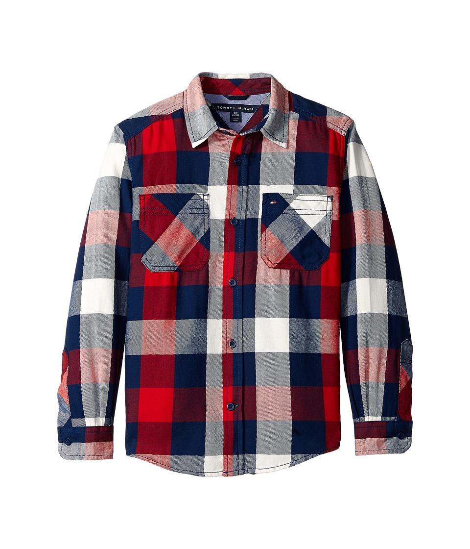 Tommy Hilfiger Kids - Ansel Long Sleeve Shirt (Big Kids) (Flag Blue) Boy's Clothing