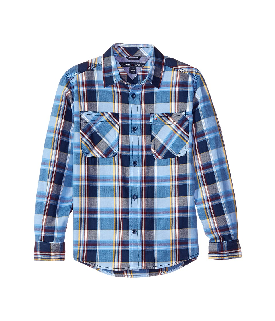 Tommy Hilfiger Kids - Kingsley Long Sleeve Shirt (Big Kids) (Flag Blue) Boy's Clothing