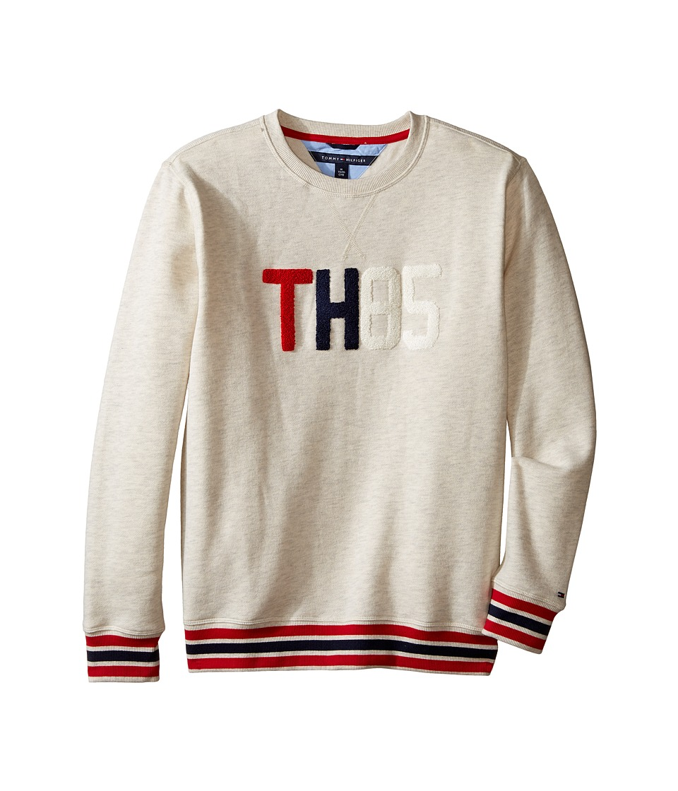 Tommy Hilfiger Kids - 85 Chenille Art Crew Neck (Big Kids) (Oatmeal Heather) Boy's Clothing