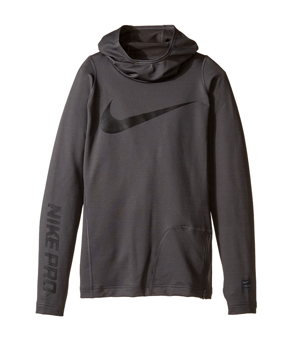 Nike Kids - Pro HyperWarm Hoodie (Little Kids/Big Kids) (Anthracite/Black) Boy's Sweatshirt