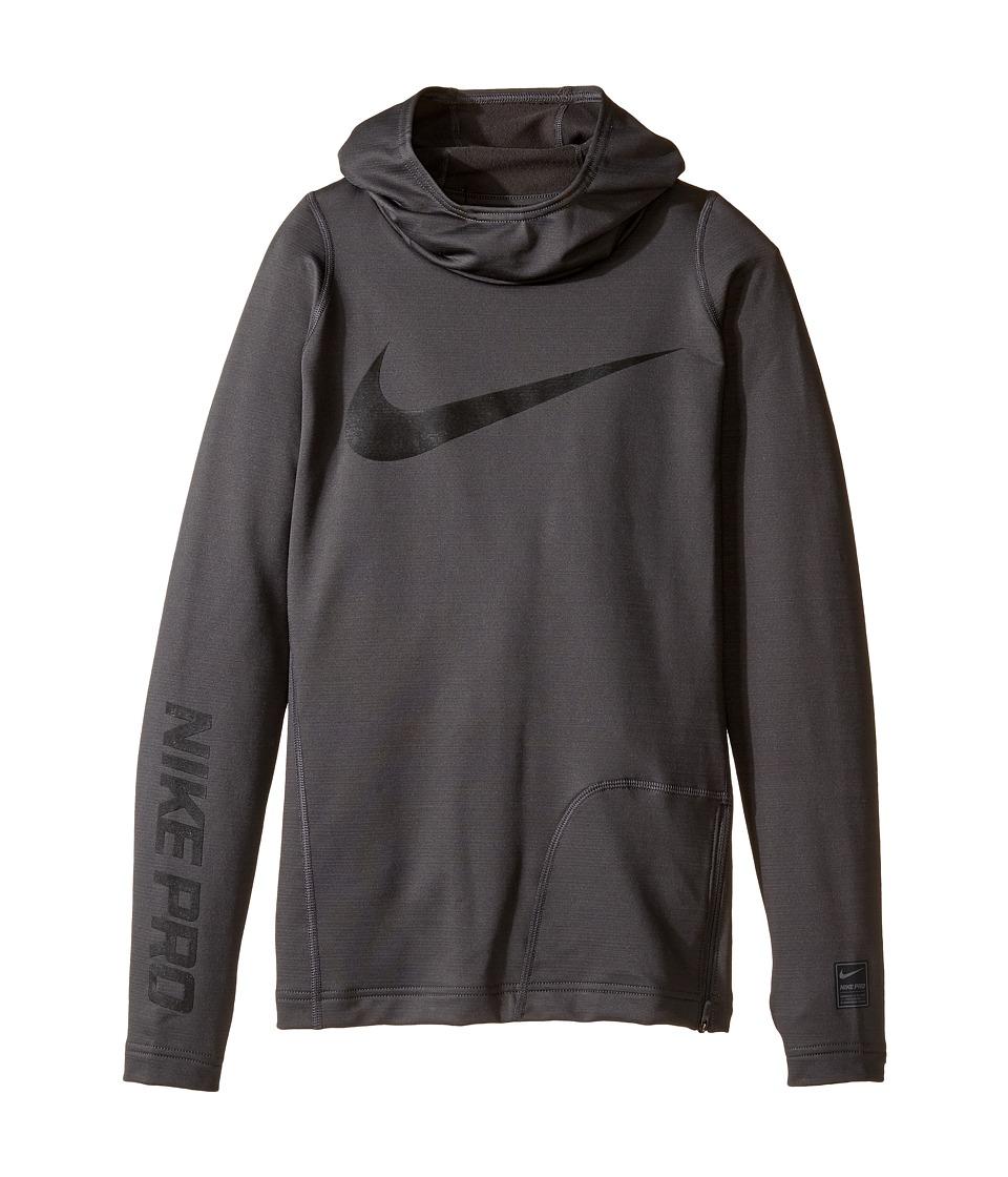 Nike Kids - Pro HyperWarm Hoodie (Little Kids/Big Kids) (Anthracite/Black) Boy's Sweatshirt