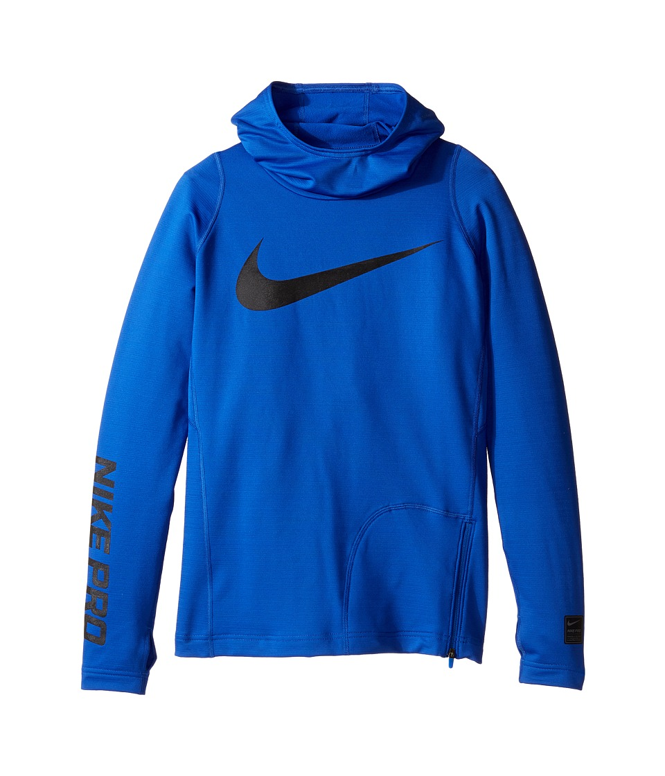 Nike Kids - Pro HyperWarm Hoodie (Little Kids/Big Kids) (Game Royal/Black) Boy's Sweatshirt