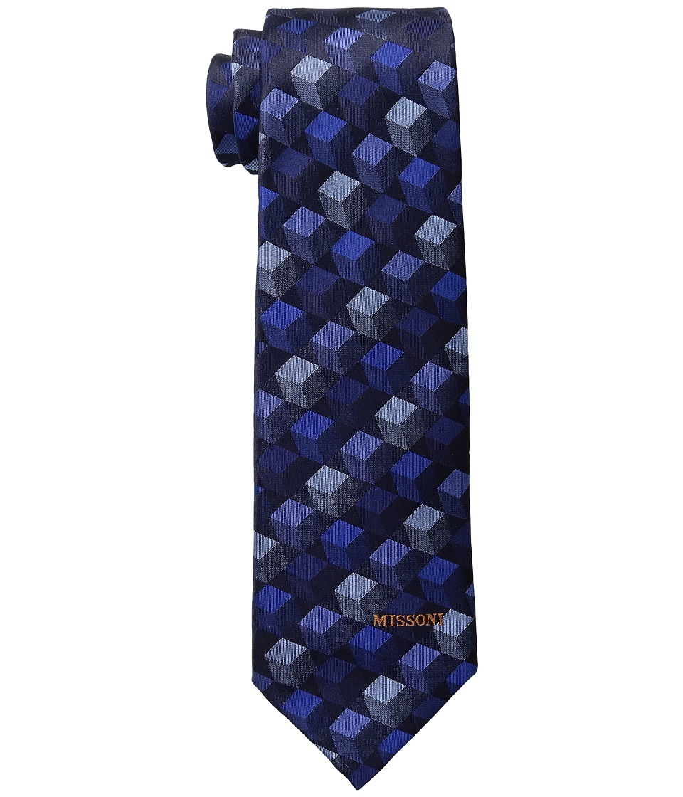 Missoni - CR8ASEU55620 (Blue) Ties