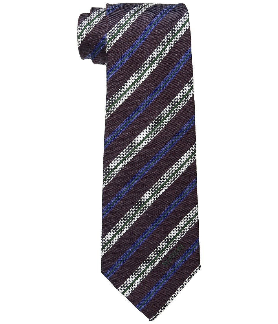 Missoni - CR8ASEU56910 (Burgundy/Blue) Ties