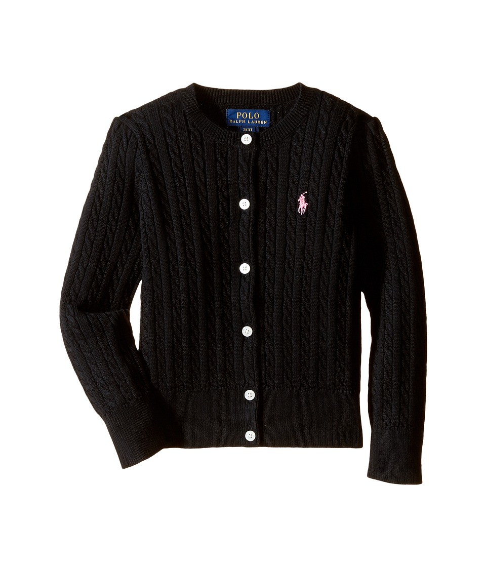 Polo Ralph Lauren Kids - Mini Cable Sweater (Toddler) (Polo Black) Girl's Sweater