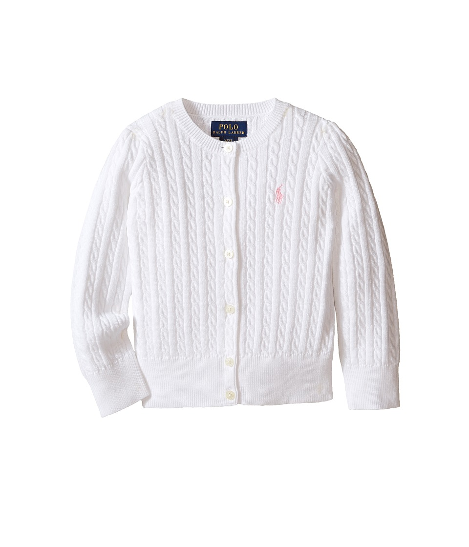 Polo Ralph Lauren Kids - Mini Cable Sweater (Toddler) (White) Girl's Sweater