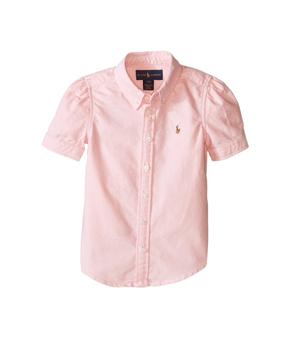 Polo Ralph Lauren Kids - Classic Solid Oxford Shirt (Toddler) (BSR Pink) Girl's Long Sleeve Button Up