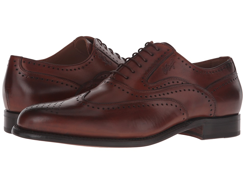 Bruno Magli - Adamo (Cognac) Men's Lace Up Wing Tip Shoes