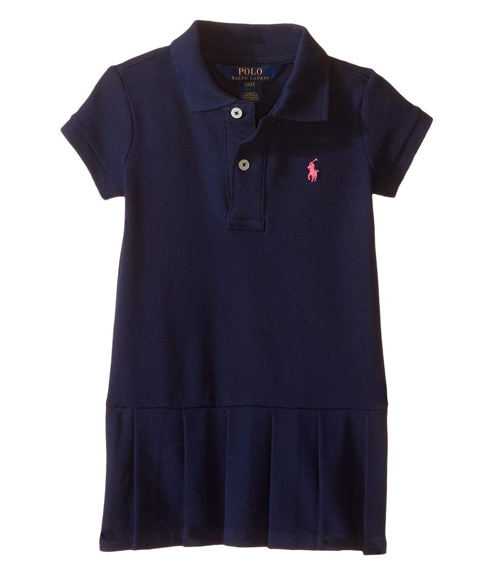 Polo Ralph Lauren Kids - Stretch Mesh Polo Dress (Toddler) (French Navy) Girl's Dress