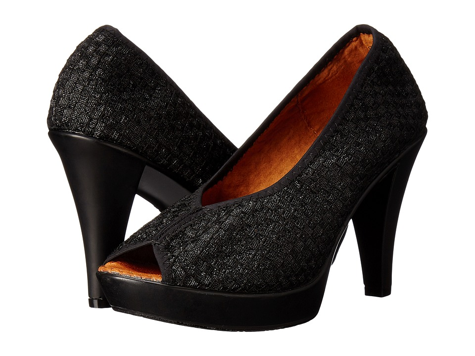 bernie mev. - Fabulous (Black Metallic) High Heels