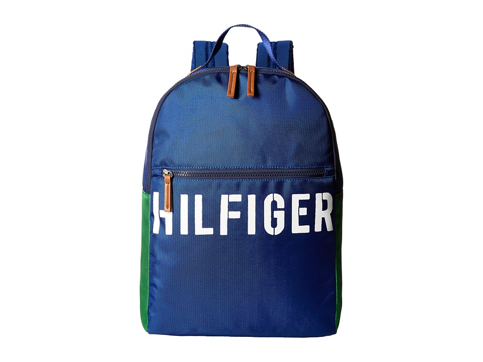 Tommy Hilfiger - Hilfiger Color Block - Backpack (Blue/Green) Backpack Bags
