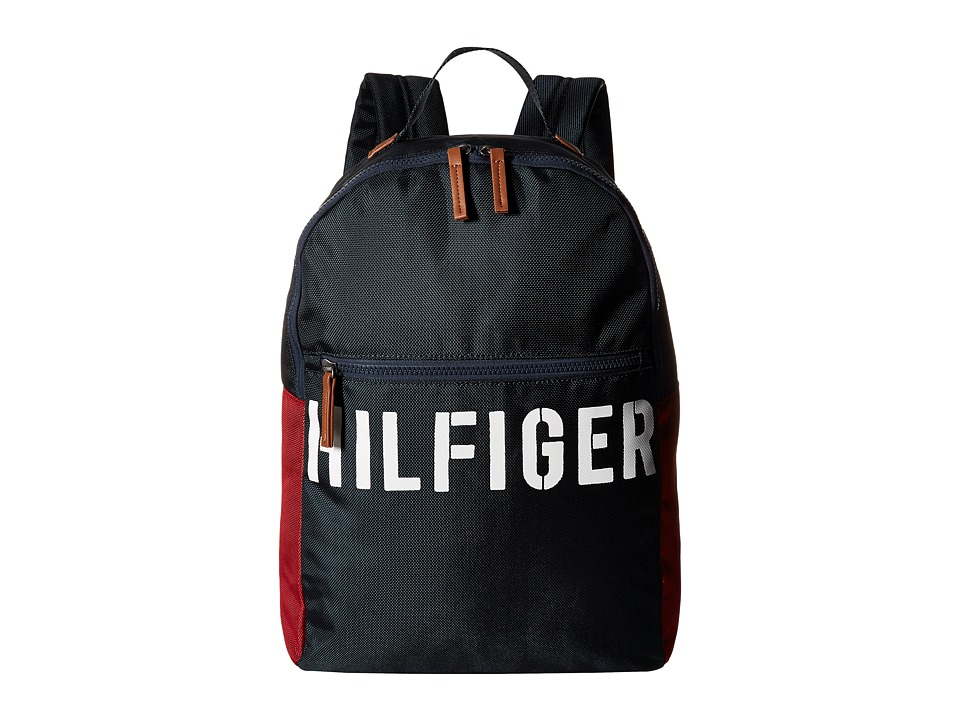 Tommy Hilfiger - Hilfiger Color Block - Backpack (Navy/Red) Backpack Bags