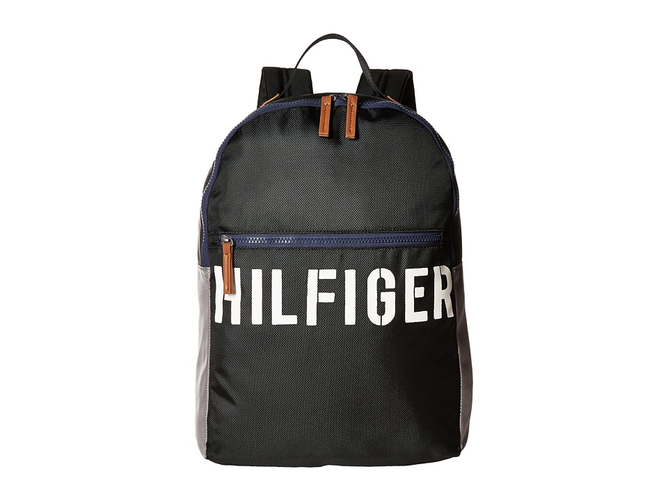 Tommy Hilfiger - Hilfiger Color Block - Backpack (Black/Gray) Backpack Bags