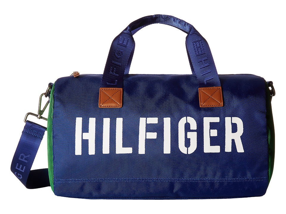 Tommy Hilfiger - Hilfiger Color Block - Mini Duffel (Blue/Green) Duffel Bags