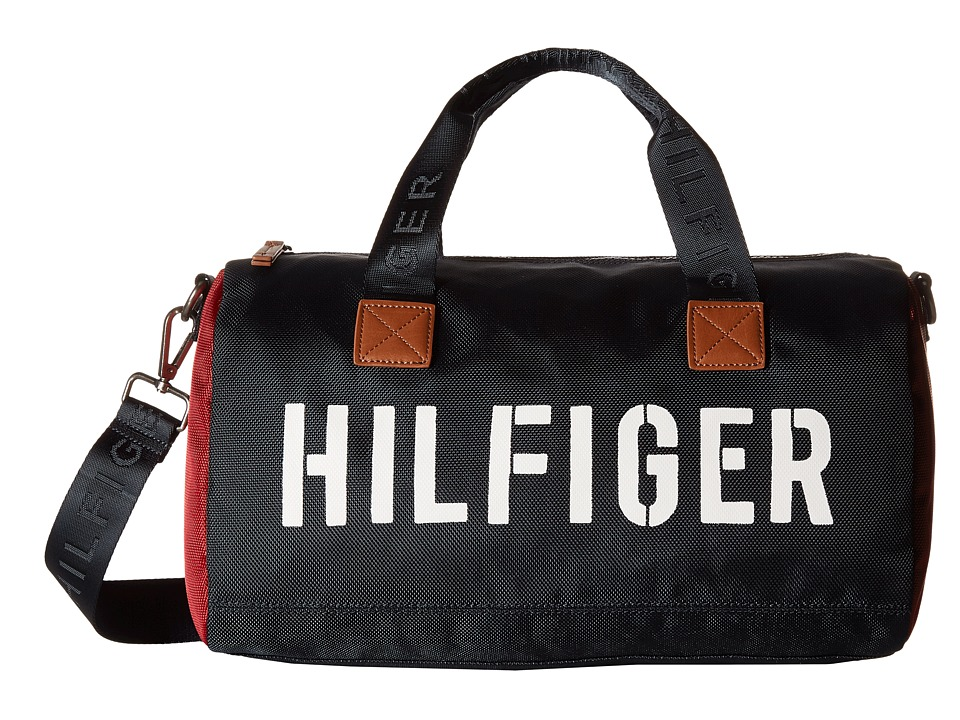 Tommy Hilfiger - Hilfiger Color Block - Mini Duffel (Navy/Red) Duffel Bags