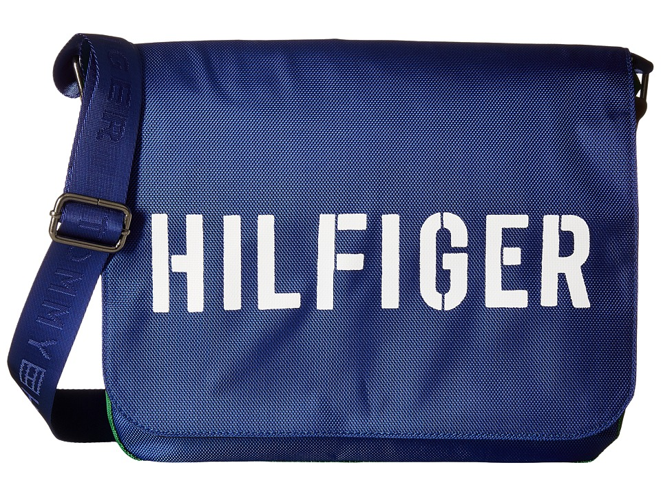 Tommy Hilfiger - Hilfiger Color Block - Messenger (Blue/Green) Messenger Bags