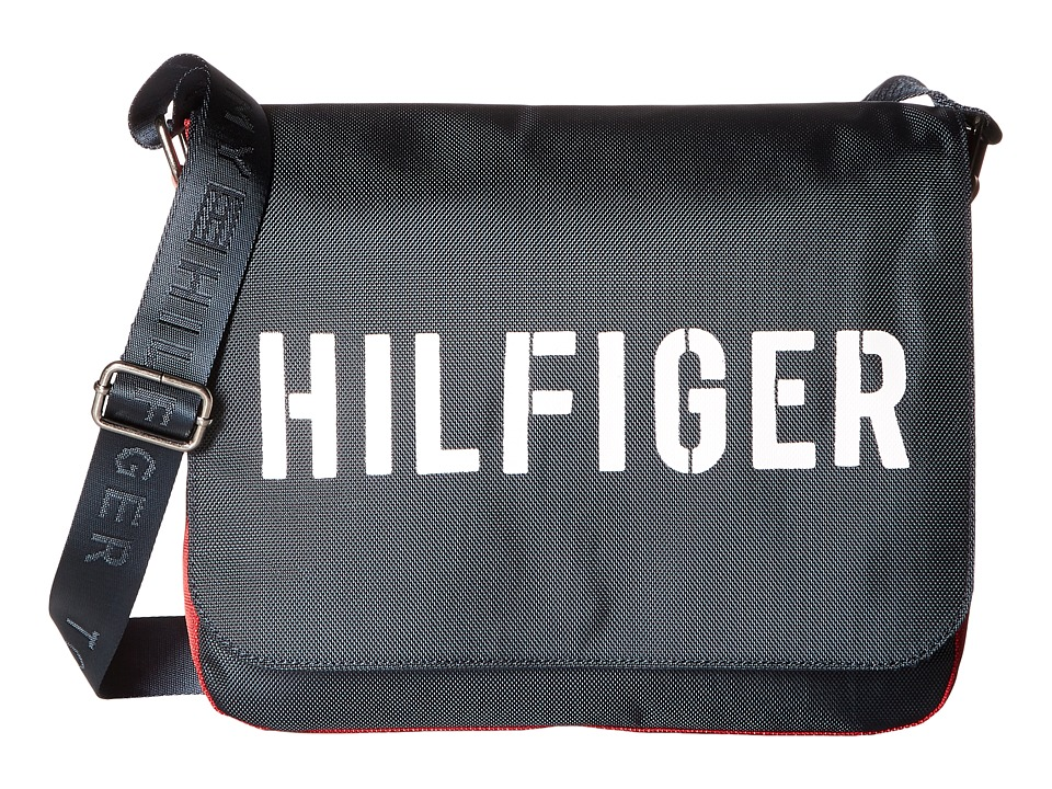 Tommy Hilfiger - Hilfiger Color Block - Messenger (Navy/Red) Messenger Bags