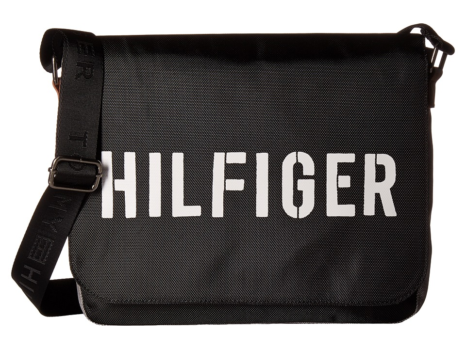 Tommy Hilfiger - Hilfiger Color Block - Messenger (Black/Gray) Messenger Bags