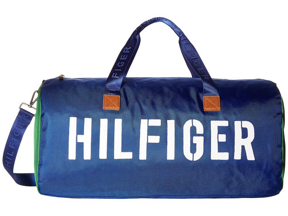 Tommy Hilfiger - Hilfiger Color Block - Medium Duffel (Blue/Green) Duffel Bags