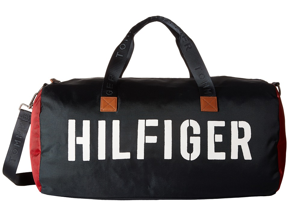 Tommy Hilfiger - Hilfiger Color Block - Medium Duffel (Navy/Red) Duffel Bags