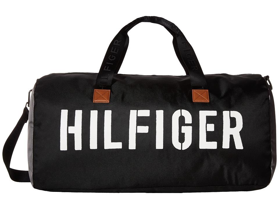 Tommy Hilfiger - Hilfiger Color Block - Medium Duffel (Black/Gray) Duffel Bags