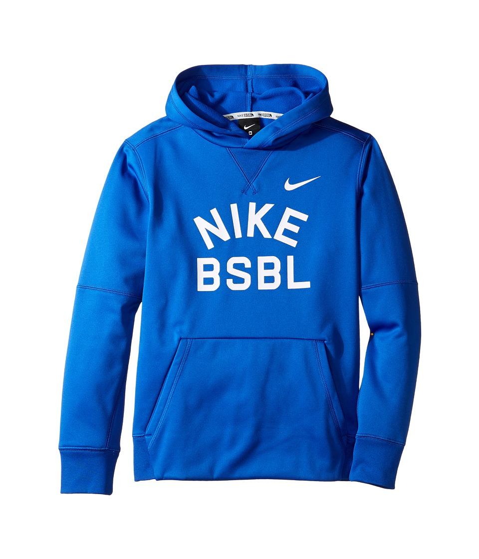 Nike Kids - Therma Hoodie (Little Kids/Big Kids) (Game Royal/Pure Platinum) Boy's Sweatshirt