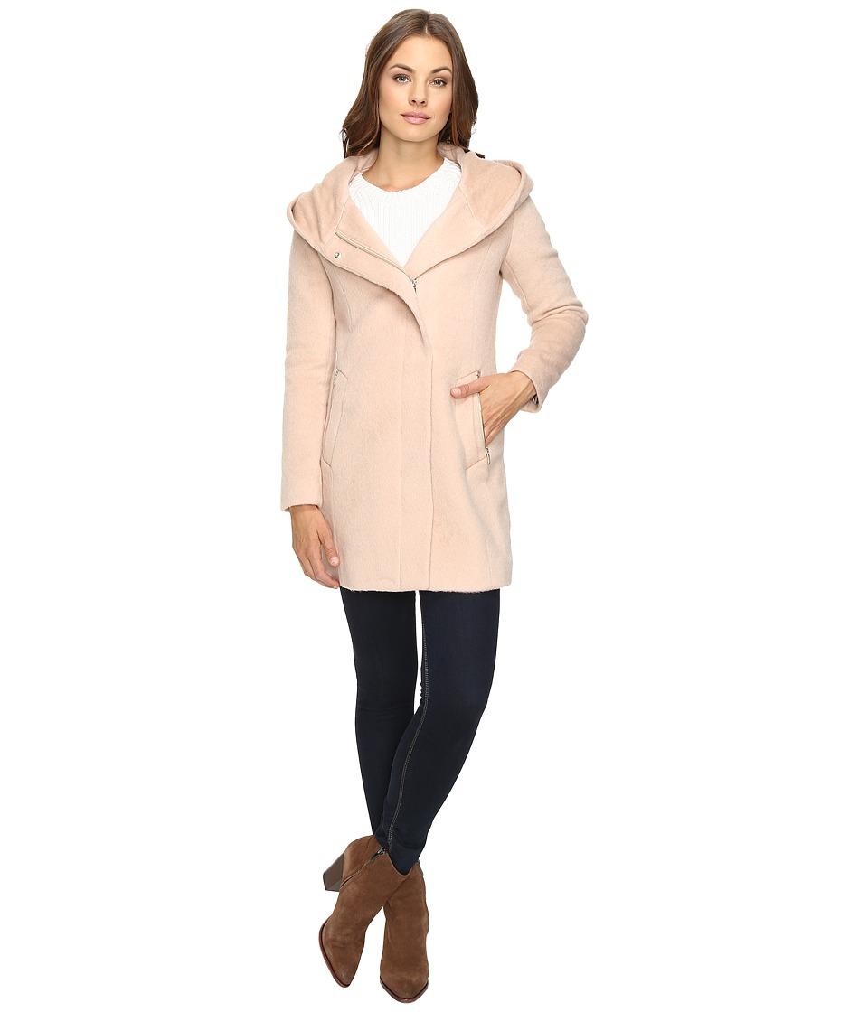 Cole Haan - Hooded Italian Alpaca Wool Coat (Canyon Rose) Women's Coat