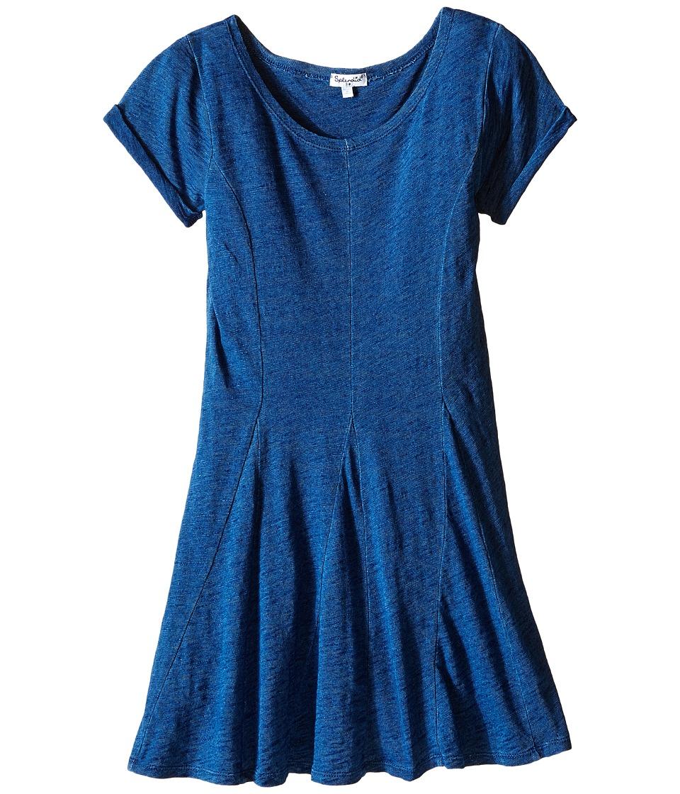 Splendid Littles - Indigo Fit Flare Dress (Big Kids) (Medium Stone) Girl's Dress
