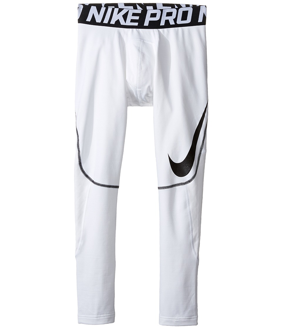 Nike Kids - Pro Hyperwarm Tights HBR (Little Kids/Big Kids) (White/Black) Boy's Casual Pants