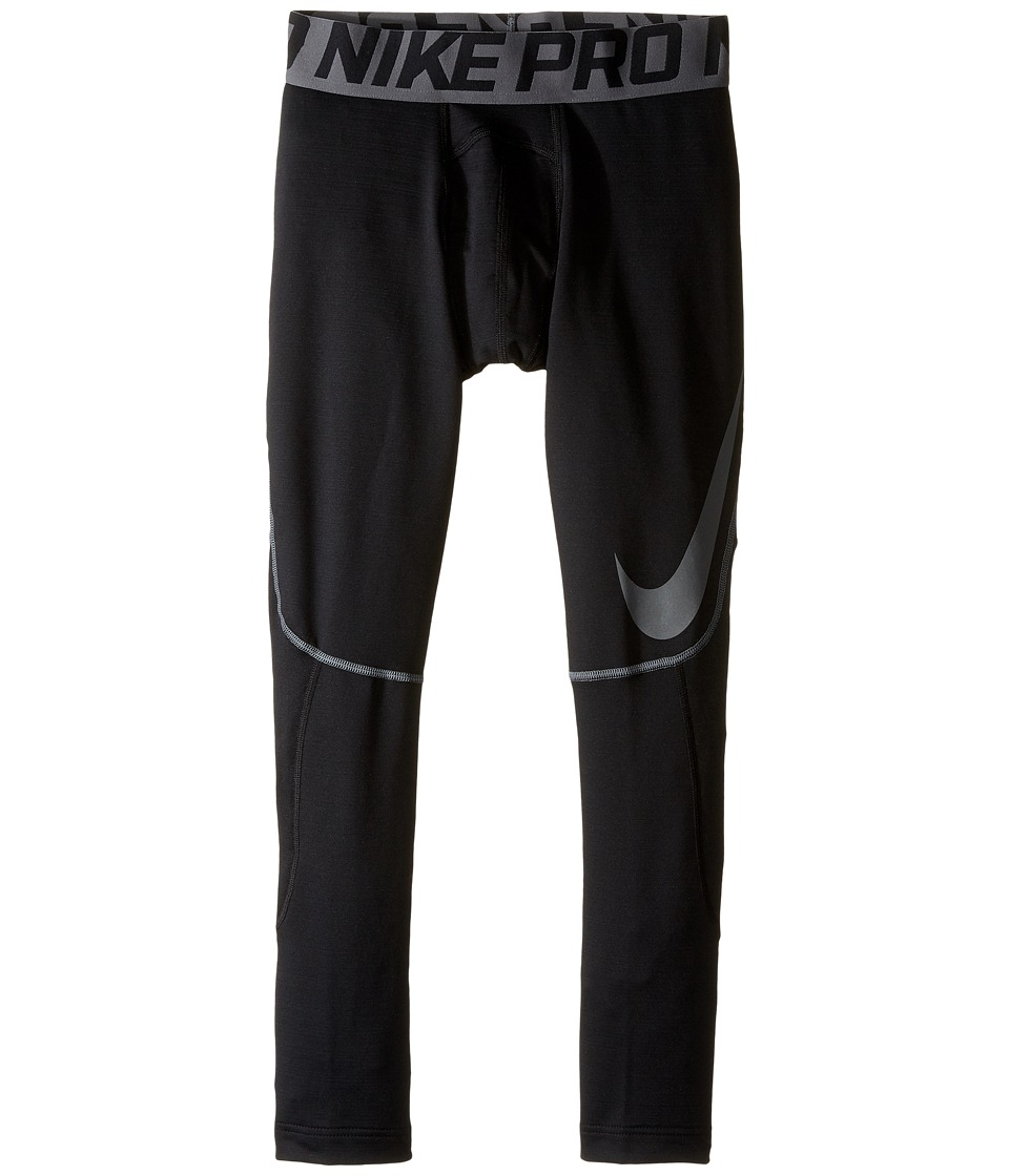 Nike Kids - Pro Hyperwarm Tights HBR (Little Kids/Big Kids) (Black/Dark Grey) Boy's Casual Pants