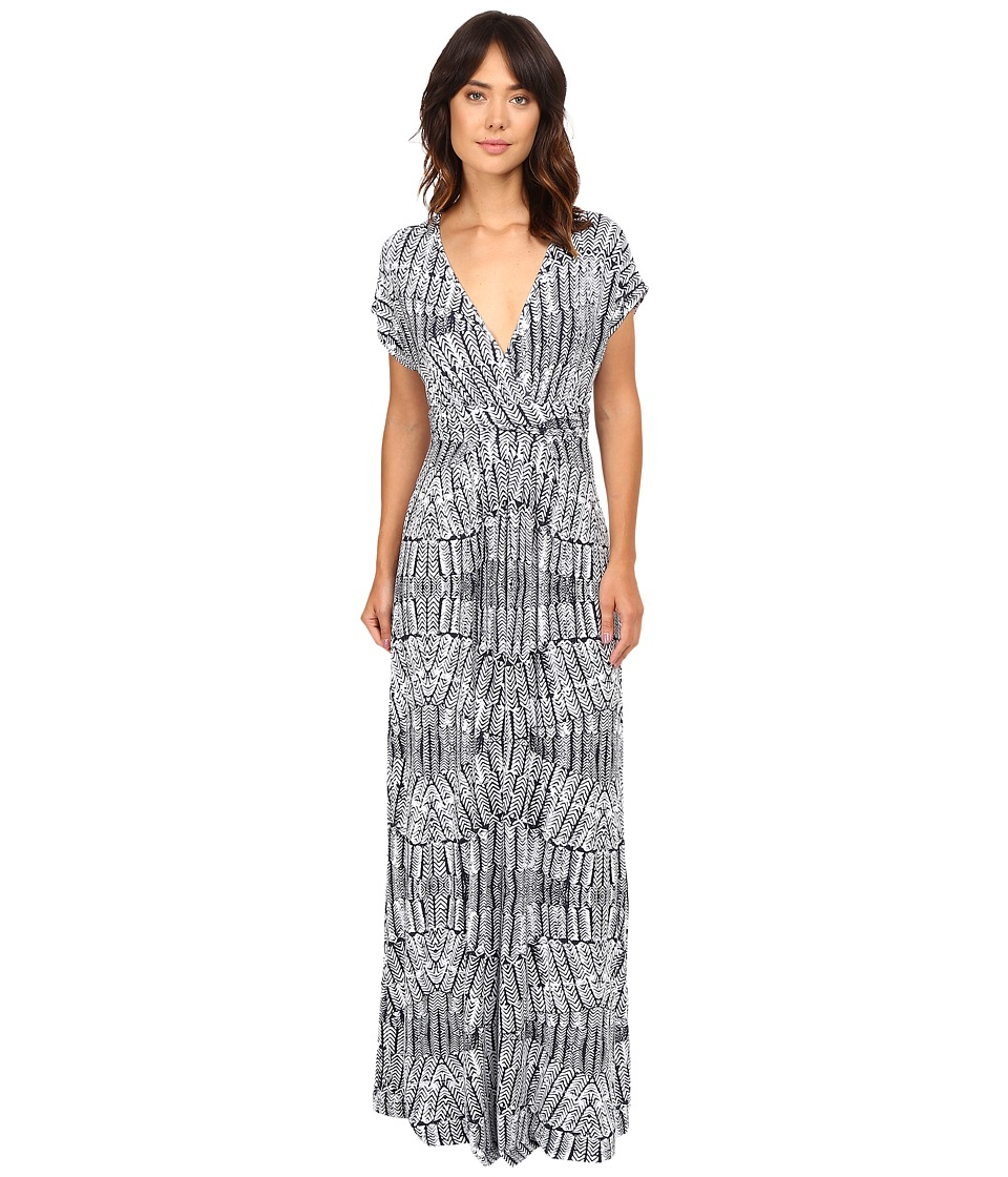 Tart - Cleo Maxi (Stamped Feathers) Women's Dress