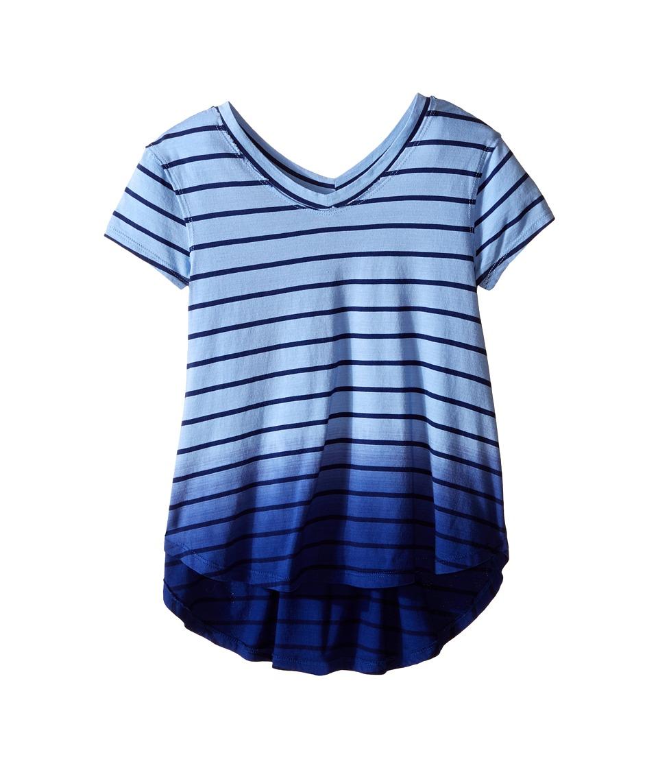 Splendid Littles - Dip-Dye Drapey Twist Tee (Big Kids) (Light Blue) Girl's T Shirt