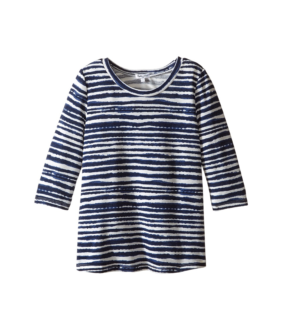 Splendid Littles - Printed Stripe Loose Knit Top (Big Kids) (Stripe) Girl's Clothing
