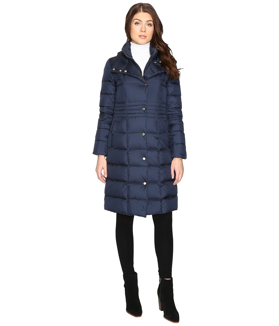 Cole Haan - 40 Down Coat with Bib (Rainstorm) Women's Coat