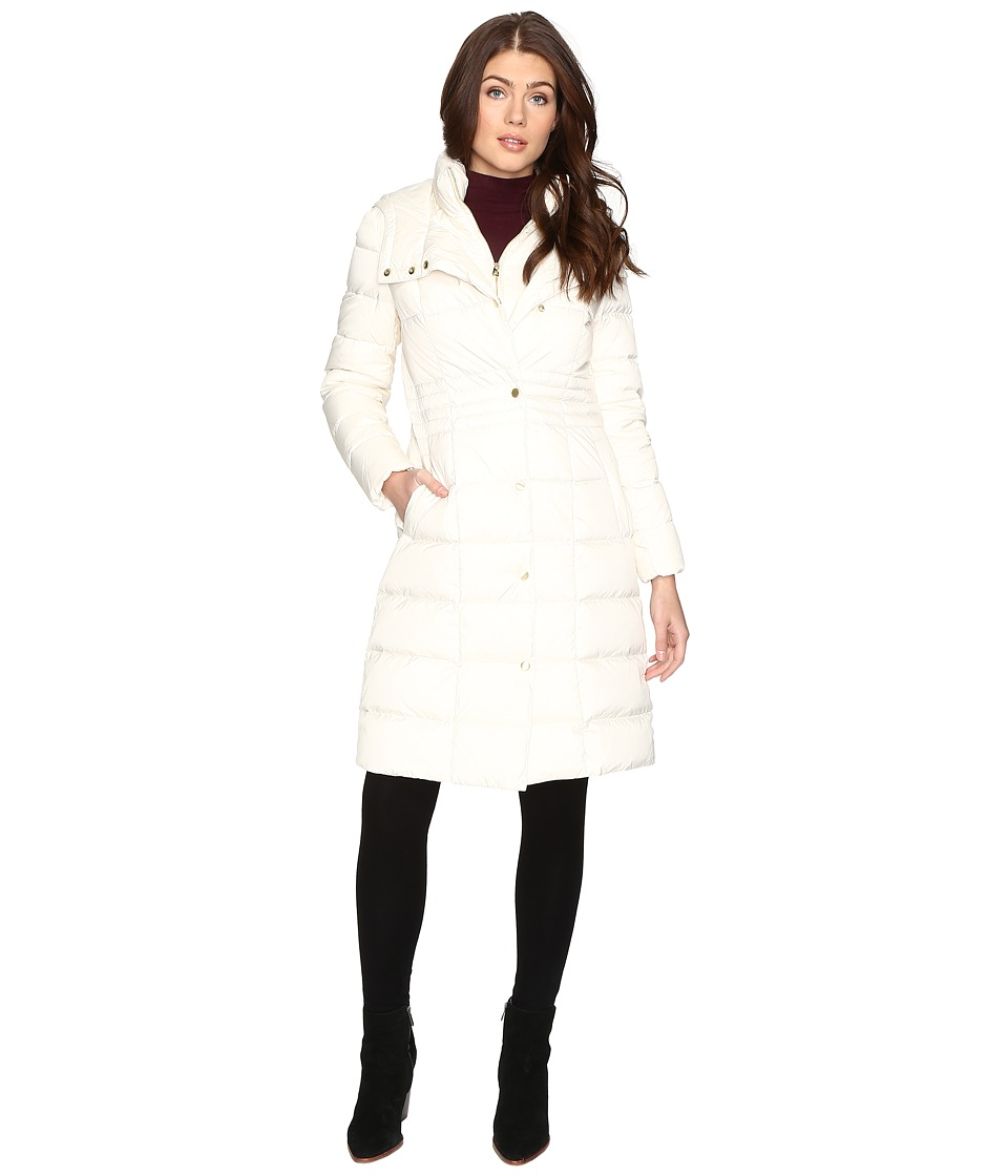Cole Haan - 40 Down Coat with Bib (Ivory) Women's Coat