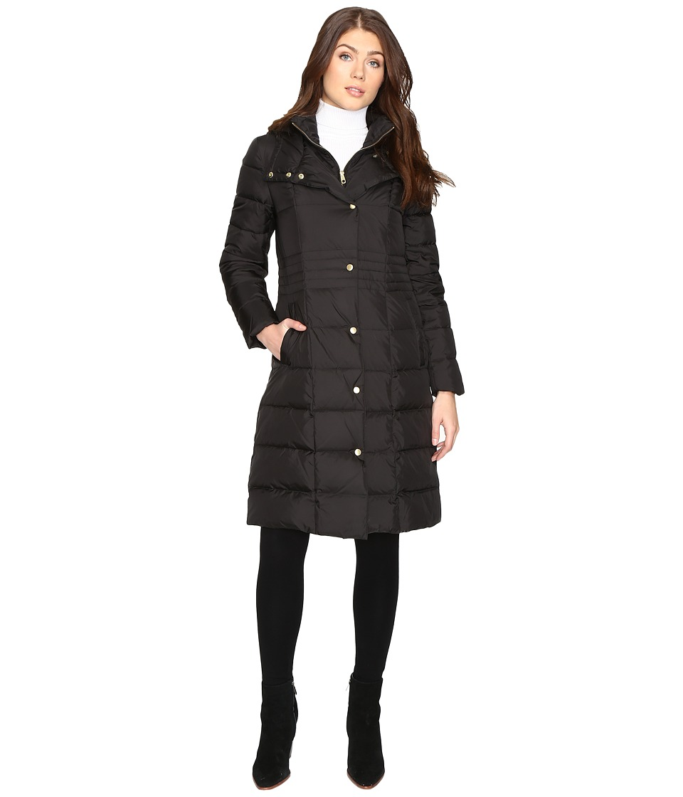 Cole Haan - 40 Down Coat with Bib (Black) Women's Coat