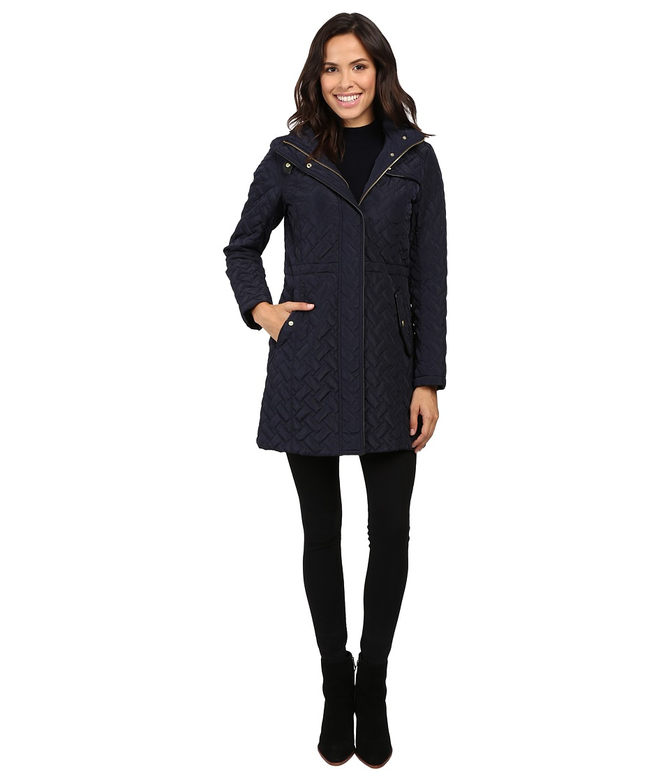 Cole Haan - Signature Quilted Parka (Dark Navy) Women's Coat
