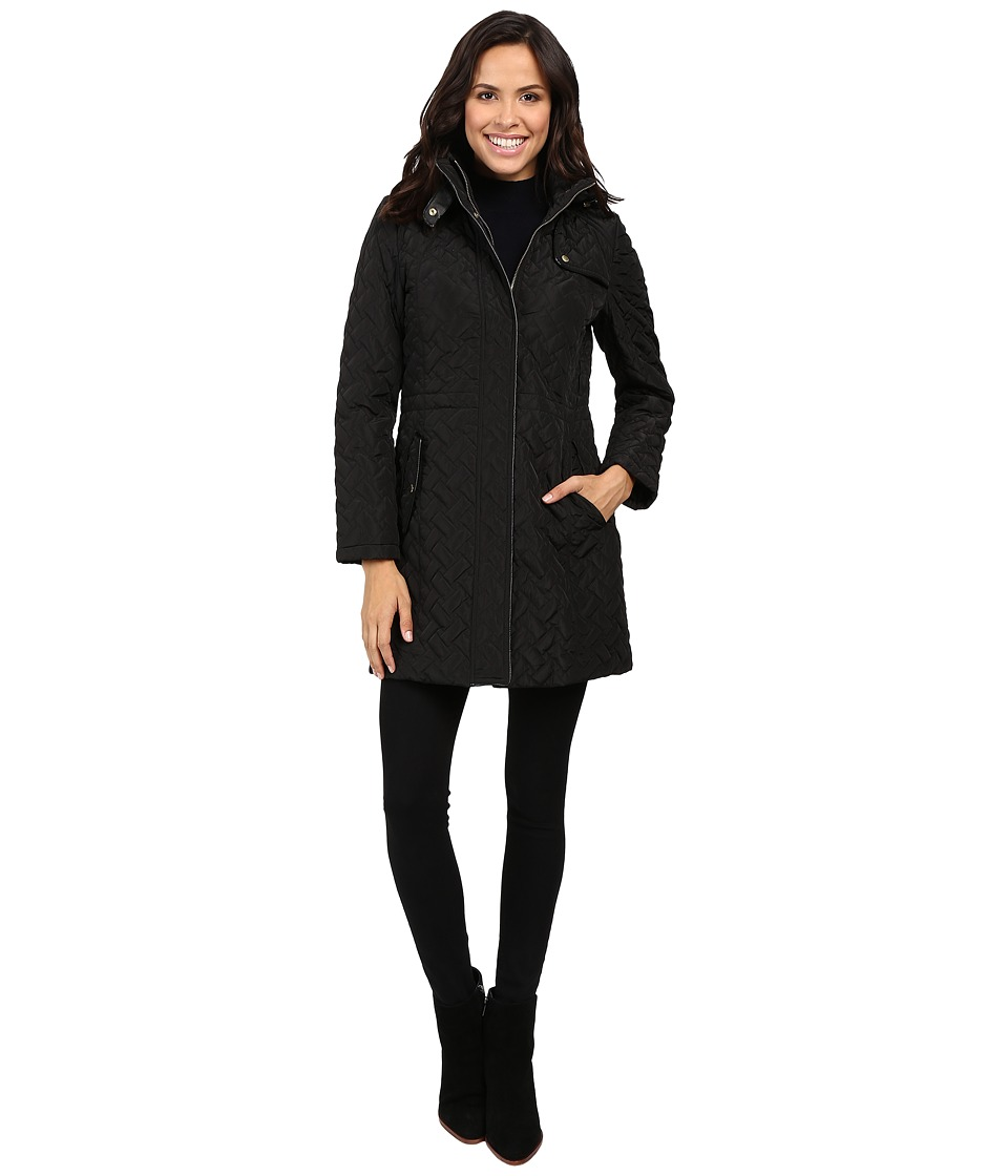 Cole Haan - Signature Quilted Parka (Black) Women's Coat