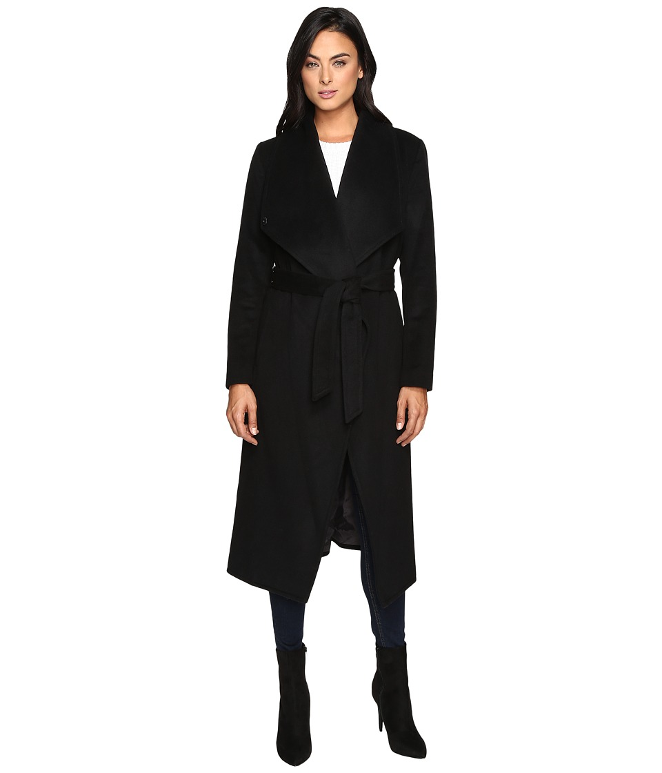Cole Haan - Signature 46 Draped Front Wrap Coat (Black) Women's Coat