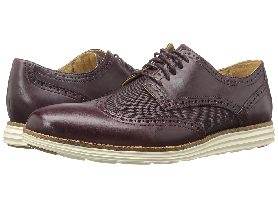 Cole Haan - Original Grand Wing Oxford (Cordovan Leather/Textile/Ivory) Men's Lace up casual Shoes