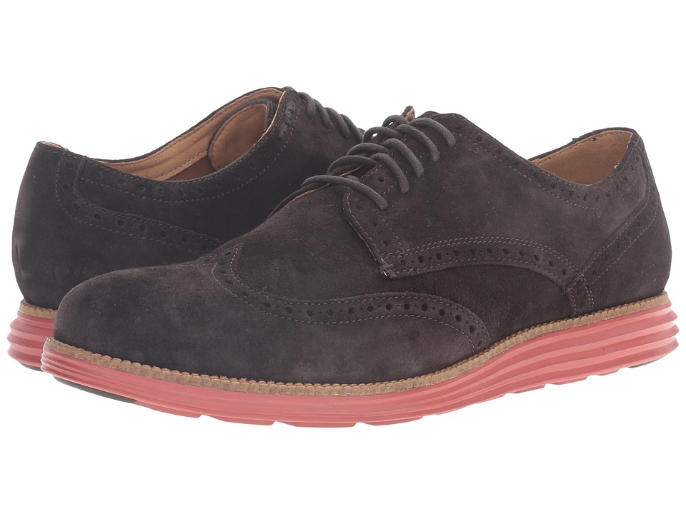 Cole Haan - Original Grand Wing Oxford (After Dark Suede/Bossa Nova) Men's Lace up casual Shoes