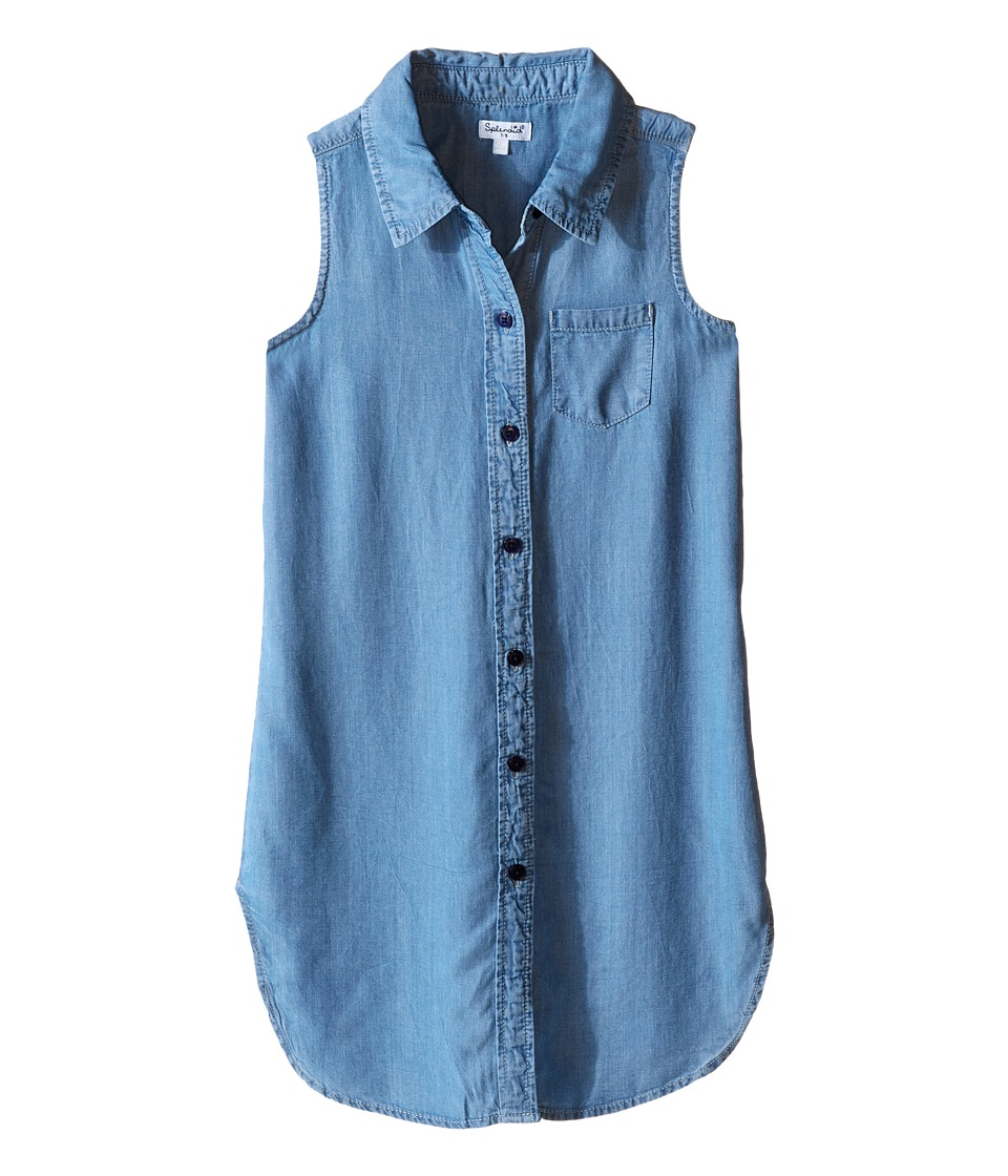 Splendid Littles - Tencel Denim Tunic (Big Kids) (Chambray) Girl's Blouse