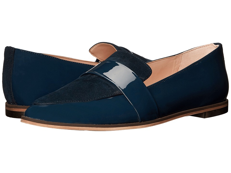 Dr. Scholl's - Ashah - Original Collection (Navy Patent/Suede) Women's Shoes
