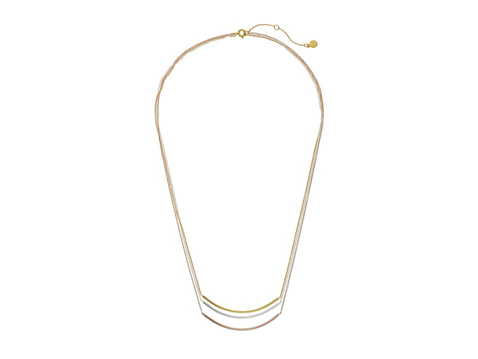gorjana - Carine Mixed Layer Necklace (Tri-Tone) Necklace