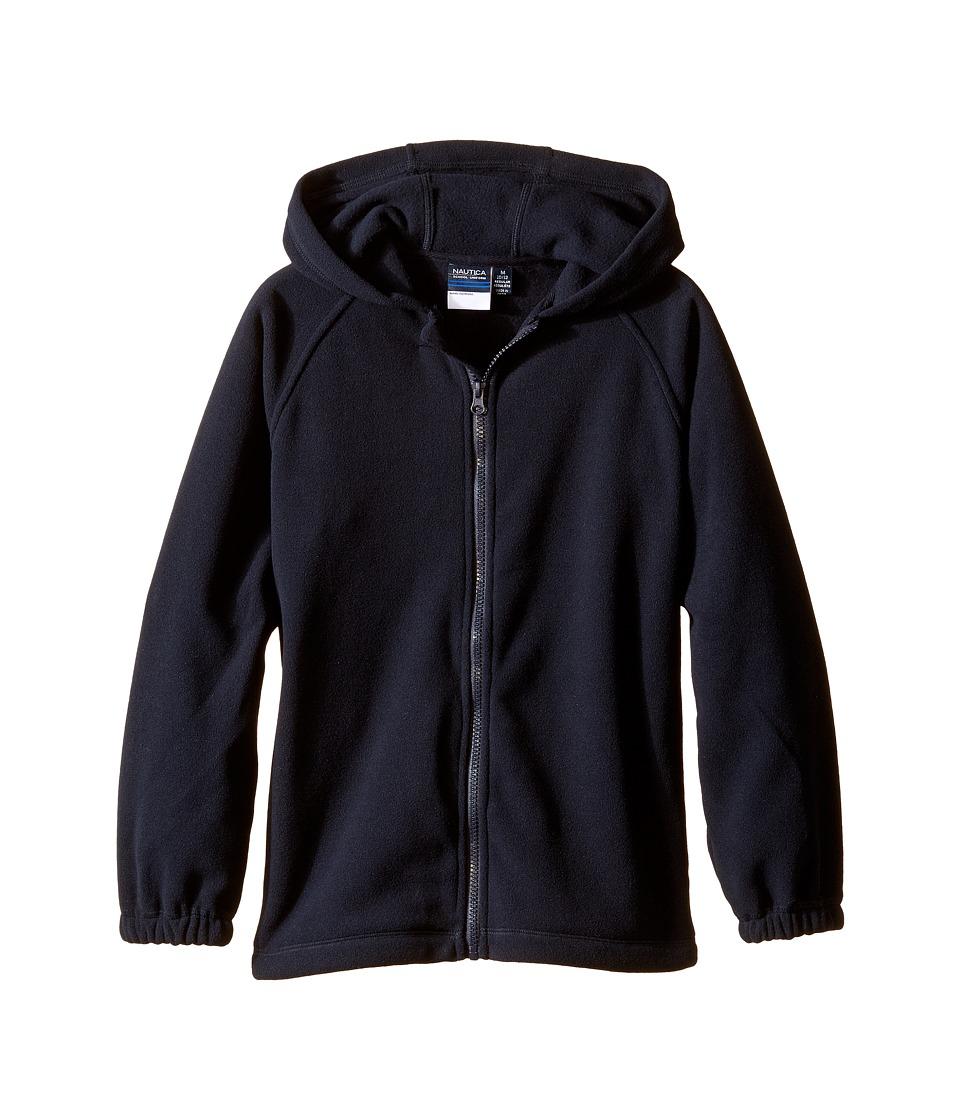 Nautica Kids - Polar Fleece Jacket w/ Hood (Little Kids) (Navy) Boy's Coat