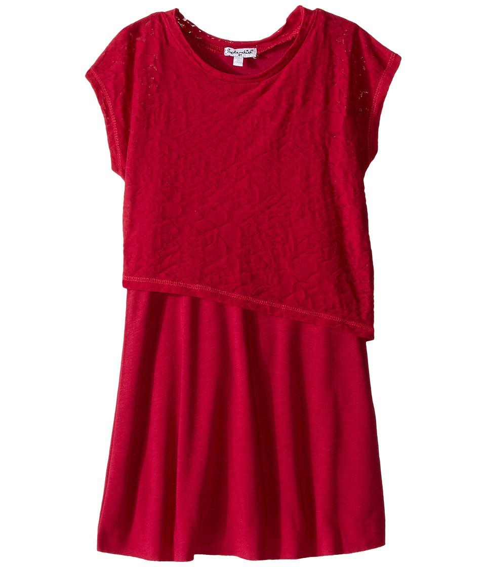 Splendid Littles - Burnout Layer Dress (Toddler) (Dark Pink) Girl's Dress