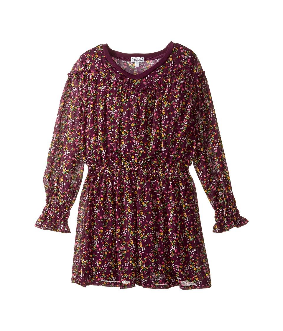 Splendid Littles - Printed Crinkle Chiffon Dress (Little Kids) (Print) Girl's Dress