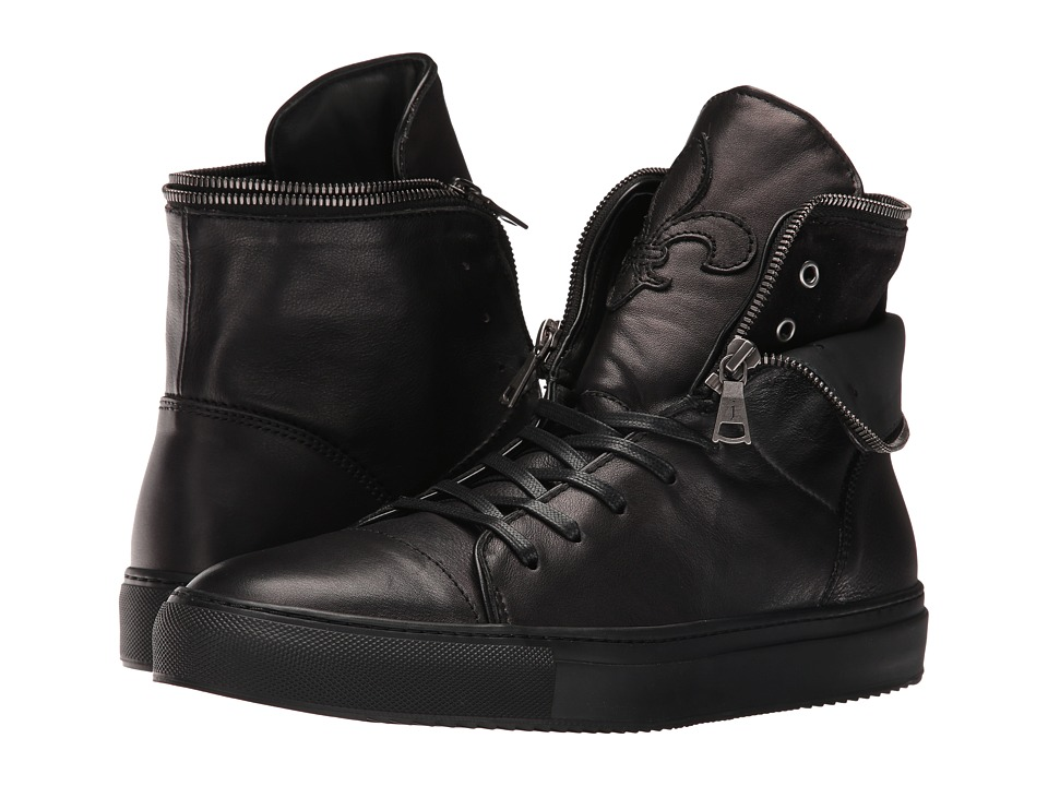 John Varvatos - Reed Zip Hi Top (Black) Men's Shoes
