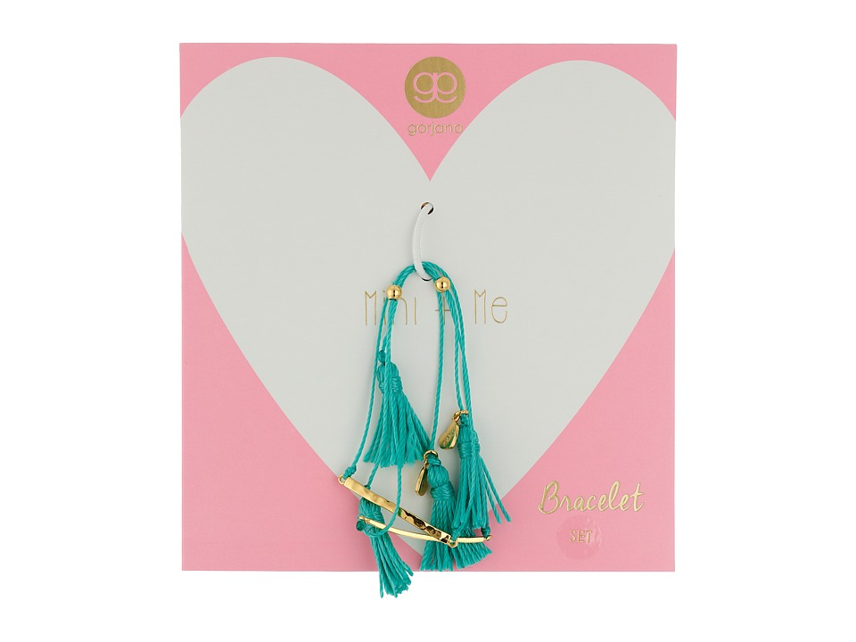 gorjana - Mini + Me Tassel Bracelet Set (Mint) Bracelet